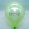 Metallic Latex Balloons Light Green Funzoop - The Party Shop