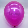 Metallic Latex Balloons Magenta Funzoop - The Party Shop