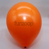 Metallic Latex Balloons Orange Funzoop - The Party Shop