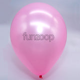 Metallic Latex Balloons Pink Funzoop - The Party Shop