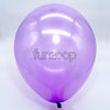 Metallic Latex Balloons Purple Funzoop - The Party Shop