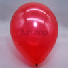 Metallic Latex Balloons Red Funzoop - The Party Shop