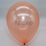 Metallic Latex Balloons Rose Gold Funzoop - The Party Shop