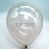 Metallic Latex Balloons Silver Funzoop - The Party Shop