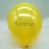 Metallic Latex Balloons Yellow Funzoop - The Party Shop