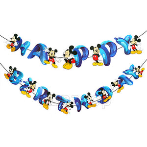 Mickey Mouse Characters Birthday Wall Banner - Funzoop