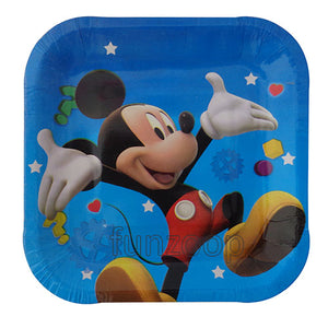 "9"" Mickey Mouse Theme Paper Plates - Funzoop"