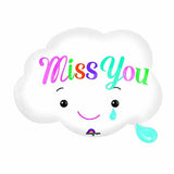 Miss You Cloud Helium Balloon - Funzoop
