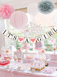 Its A Girl New Arrival Paper Banner - In Use - Funzoop
