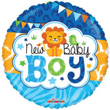 Baby Boy Foil Balloon for New Baby Arrival (New Baby Boy)  - Funzoop