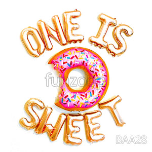 ONE IS SWEET Foil Balloons Wall Decor