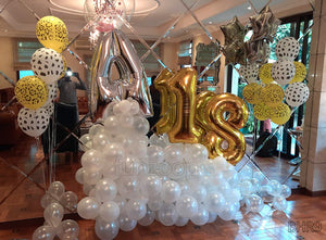Over the Cloud Room Decor with Assorted Foil and Latex Balloons [BHR09]