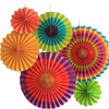 Party Paper Fans Assorted - Funzoop