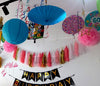 Paper Parasol Umbrella Paper Lantern Tassel Decor - Funzoop