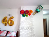 Party Decoration Paper Fans Wall Arrangement - Funzoop