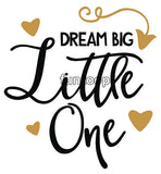 DREAM BIG Little One Photo Booth Placard - Funzoop