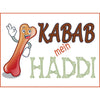 KABAB Mein HADDI Photo Booth Placard - Funzoop