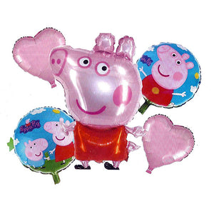 Peppa Pig 5 in 1 Foil Balloons Bouquet Set [5 Pcs] - Funzoop