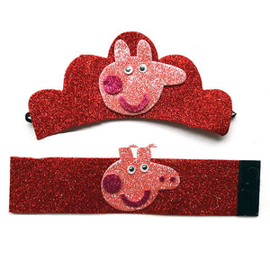Peppa Pig Crown and Wristband Set - Pink - Funzoop