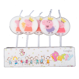Peppa Pig Theme Cake Candles - Funzoop