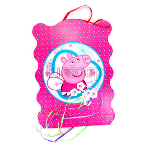 Peppa Pig Theme Pull String Pinata / Khoi Bag - Funzoop The Party Shop