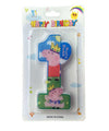 Peppa Theme 1st Birthday Candle - Funzoop