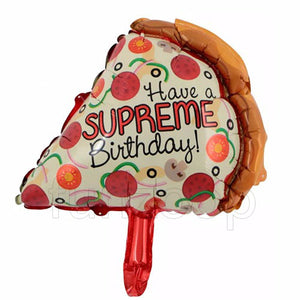 Pizza Shaped Birthday Foil Balloon - Funzoop