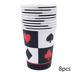 Poker Casino Theme Party Cups - Funzoop
