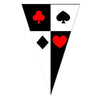 Poker Casino Theme Party Pennant Wall Banner - Funzoop