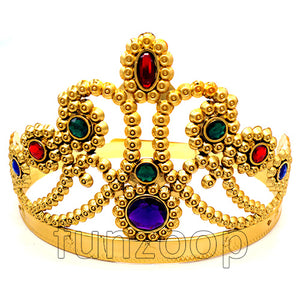 Princess Plastic Party Crown - Golden - Funzoop