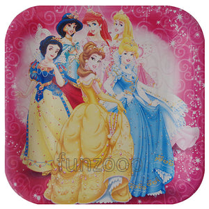 Princess Theme Paper Food Plates - Funzoop