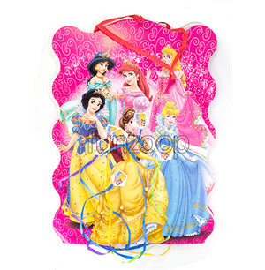 Princesses Birthday Pull String Pinata / Khoi Bag - Funzoop The Party Shop