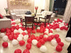 RED/WHITE HEART SHAPED LATEX BALLOONS FLOOR DECOR - Funzoop The Party Shop