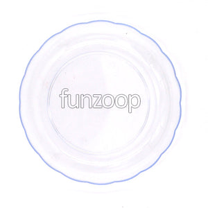 Round Acrylic Plate for Snacks/Dessert - Funzoop The Party Shop