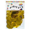 Round Aluminium Foil Golden Confetti - Funzoop The Party Shop