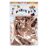 Round Aluminium Foil Rose Gold Confetti - Funzoop The Party Shop