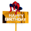 Spider-man Superhero Theme Birthday Cake Topper - Funzoop