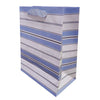 Stripes Paper Bag Blue - Funzoop