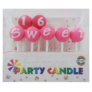 Sweet 16 Birthday Cake Candle - Funzoop