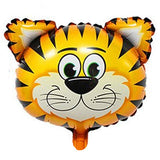 Cute Tiger Face Shaped Jungle Theme Foil Balloon - Funzoop The Party Shop