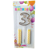 Topper Number Cake Candles [digit three] - Funzoop