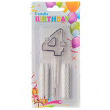 Topper Number Cake Candles [digit four] - Funzoop