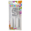 Topper Number Cake Candles [digit five] - Funzoop