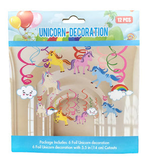 Unicorn Decoration Swirls [6 swirls set] - Funzoop