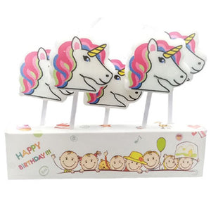 Unicorn Theme Cake Candles [5 Pcs] - Funzoop