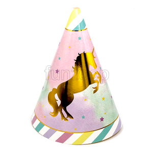 Unicorn Theme Glossy Birthday Caps [10 Nos] - Funzoop