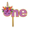 Unicorn Theme Number One Cake Topper - Funzoop