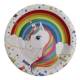 Unicorn Theme Paper Food Plates - Funzoop