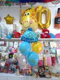 Welcome Baby Boy Cap Giraffe Balloons Bouquet - Funzoop The Party Shop