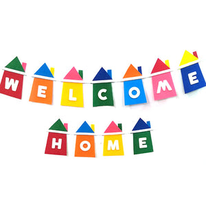 Welcome Home Colorful EVA Wall Banner - Funzoop The Party Shop